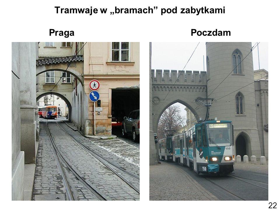 22 Tramwaje w bramach pod zabytkami Praga Poczdam