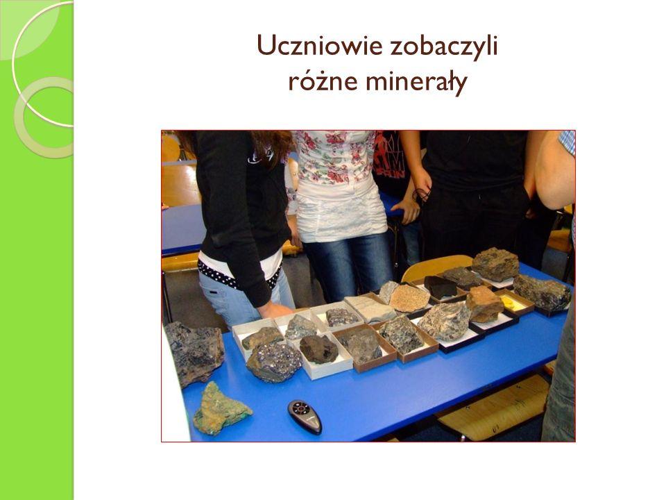 Uczniowie zobaczyli różne minerały