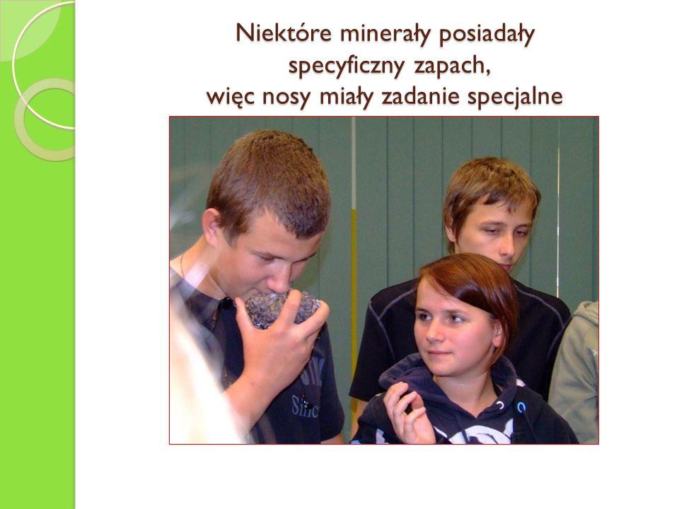 Niektóre minerały posiadały specyficzny zapach, więc nosy miały zadanie specjalne
