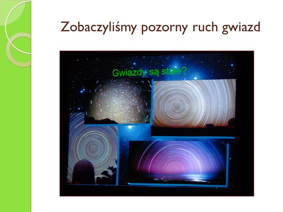 Zobaczyliśmy pozorny ruch gwiazd