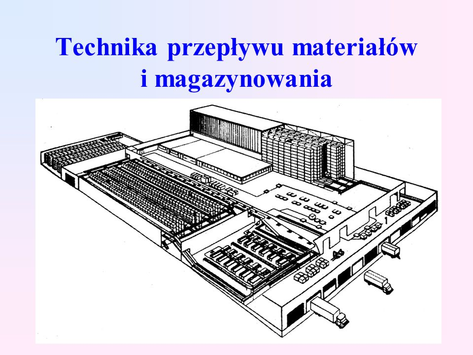 Funkcje logistyczne i klasyfikacja środków technicznych infrastruktury transportu bliskiego i magazynowania Klasyfikacja rodzajowa Klasyfikacja funkcjonalna Stan rozwoju systemów magazynowych w Polsce Determinanty rozwoju techniki przepływu materiału i magazynowania
