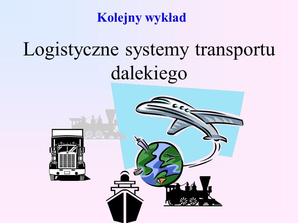 Kolejny wykład Logistyczne systemy transportu dalekiego