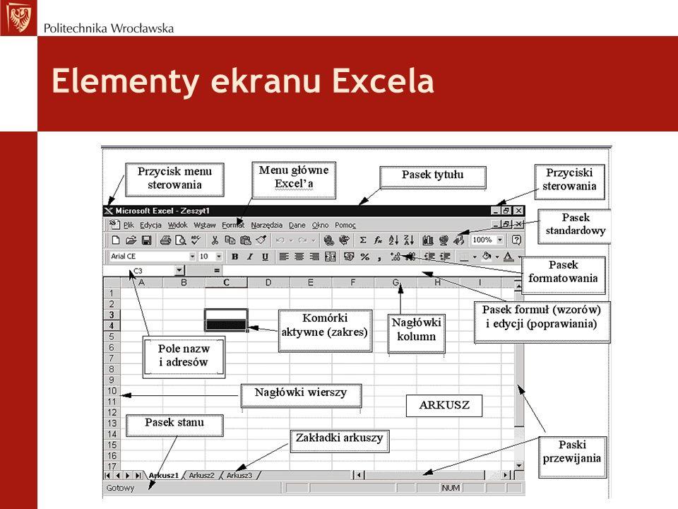 Excel - zeszyt zeszyt (a czasem skoroszytem lub książką) dlatego, że składa się wielu stron tzw.