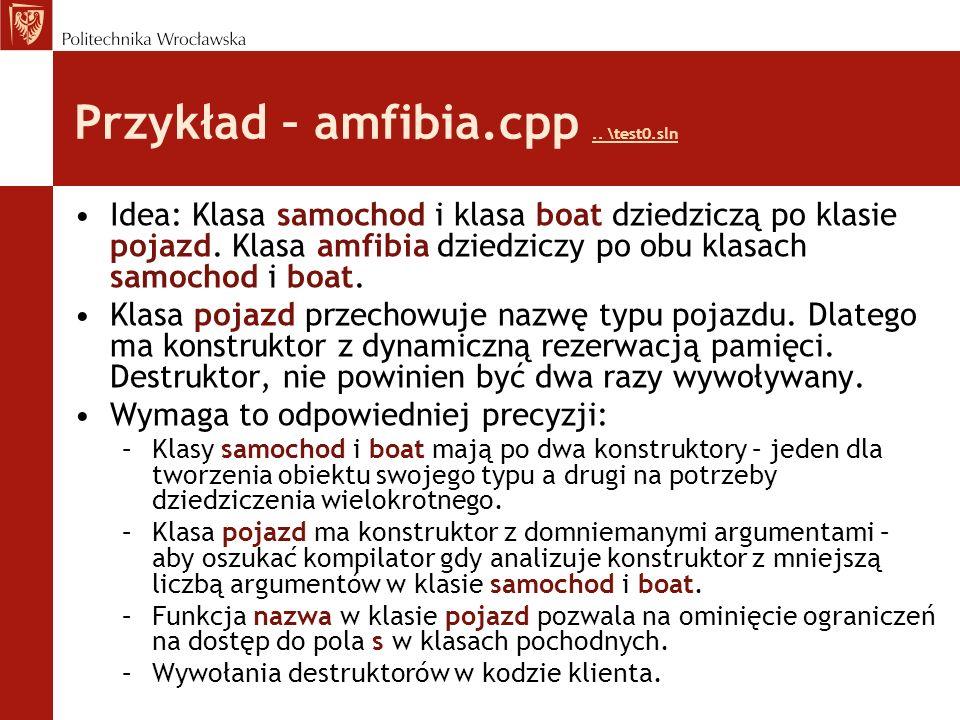 Przykład – amfibia.cpp.. \test0.sln..