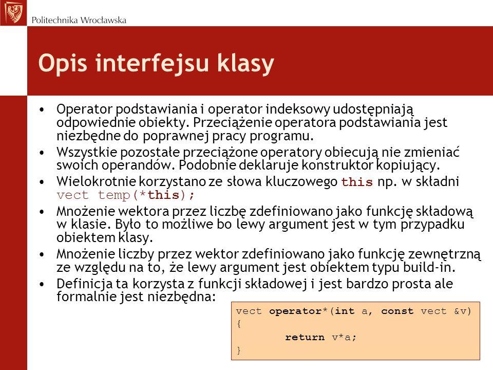 Opis interfejsu klasy Operator podstawiania i operator indeksowy udostępniają odpowiednie obiekty.