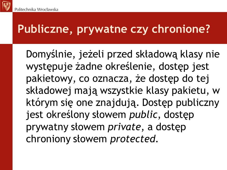 Publiczne, prywatne czy chronione.