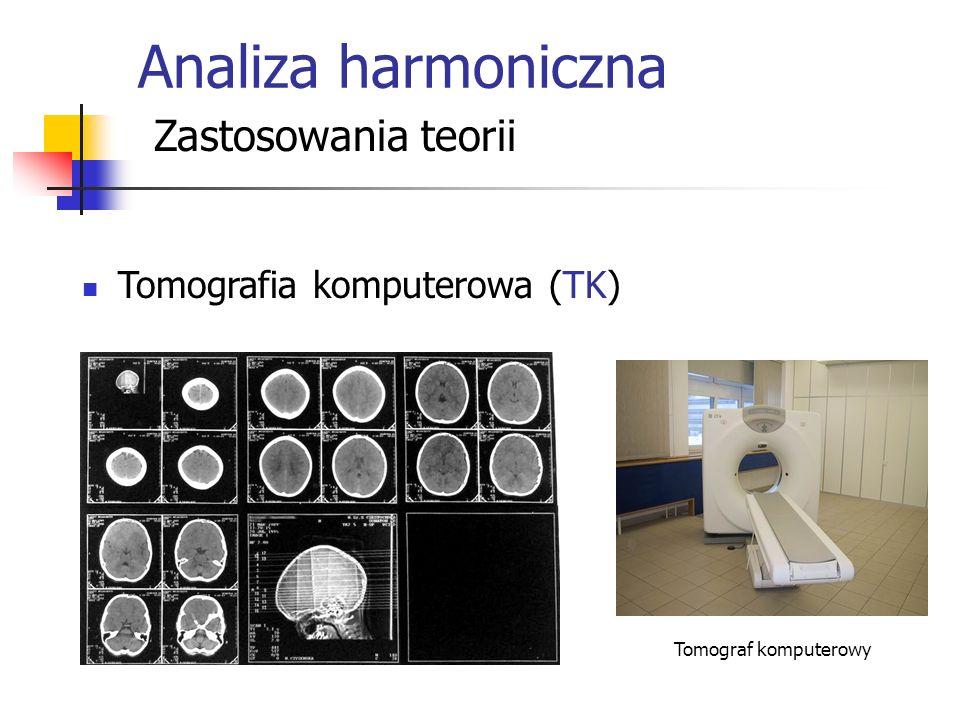Analiza harmoniczna Zastosowania teorii Tomografia komputerowa (TK) Tomograf komputerowy