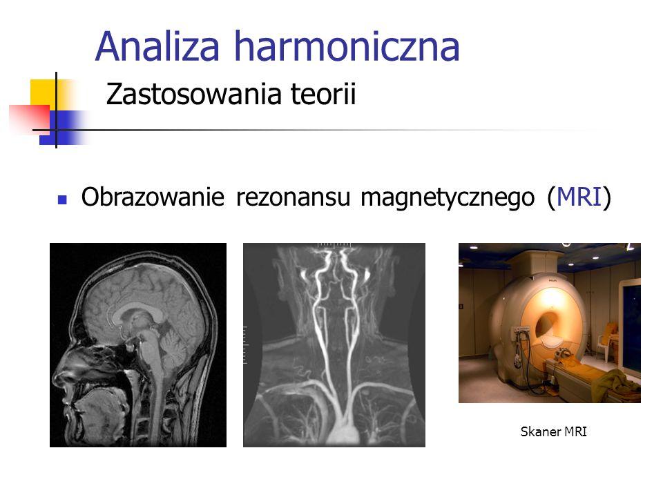 Analiza harmoniczna Zastosowania teorii Obrazowanie rezonansu magnetycznego (MRI) Skaner MRI