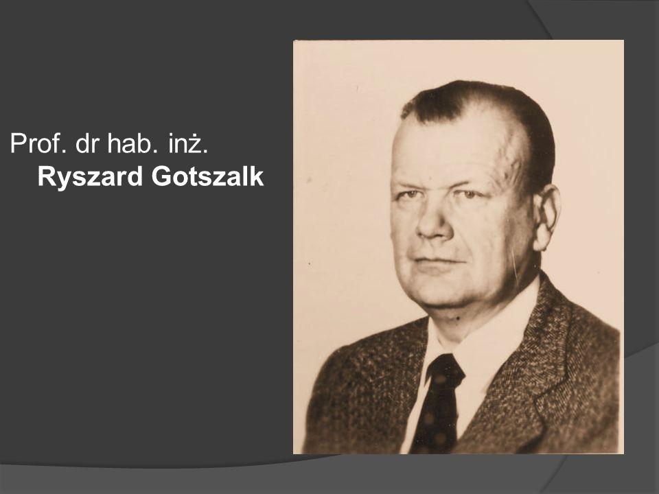 Doc. dr inż. Adolf Łuczycki