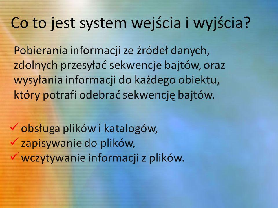 Co to jest system wejścia i wyjścia.