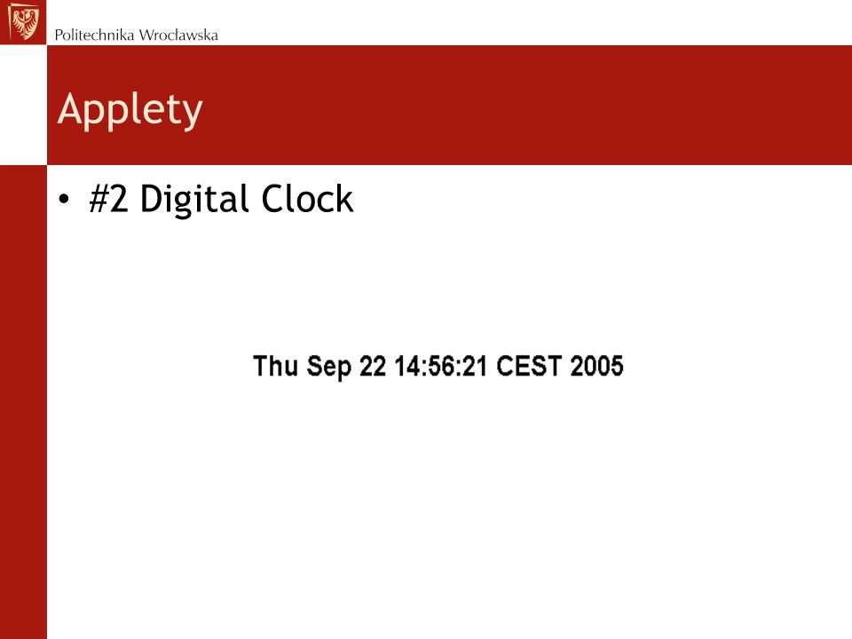 Applety #2 Digital Clock