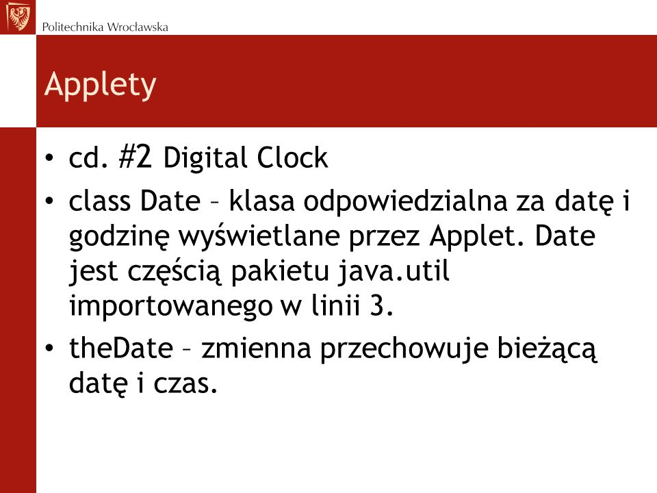 Applety cd.