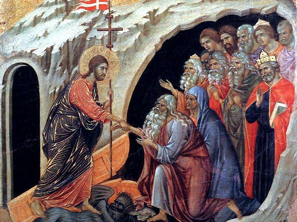 Bóg zasnął w ludzkim ciele, a wzbudził tych, którzy spali od wieków.... Idzie, aby odnaleźć pierwszego człowieka, jak zgubioną owieczkę. Poszedł więc