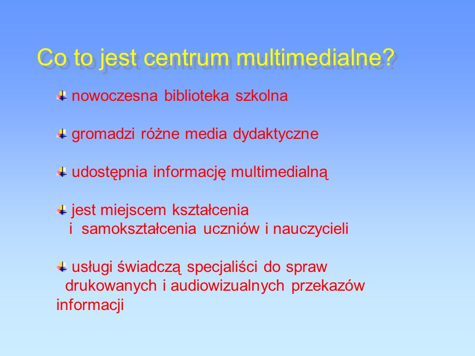 Co to jest centrum multimedialne.