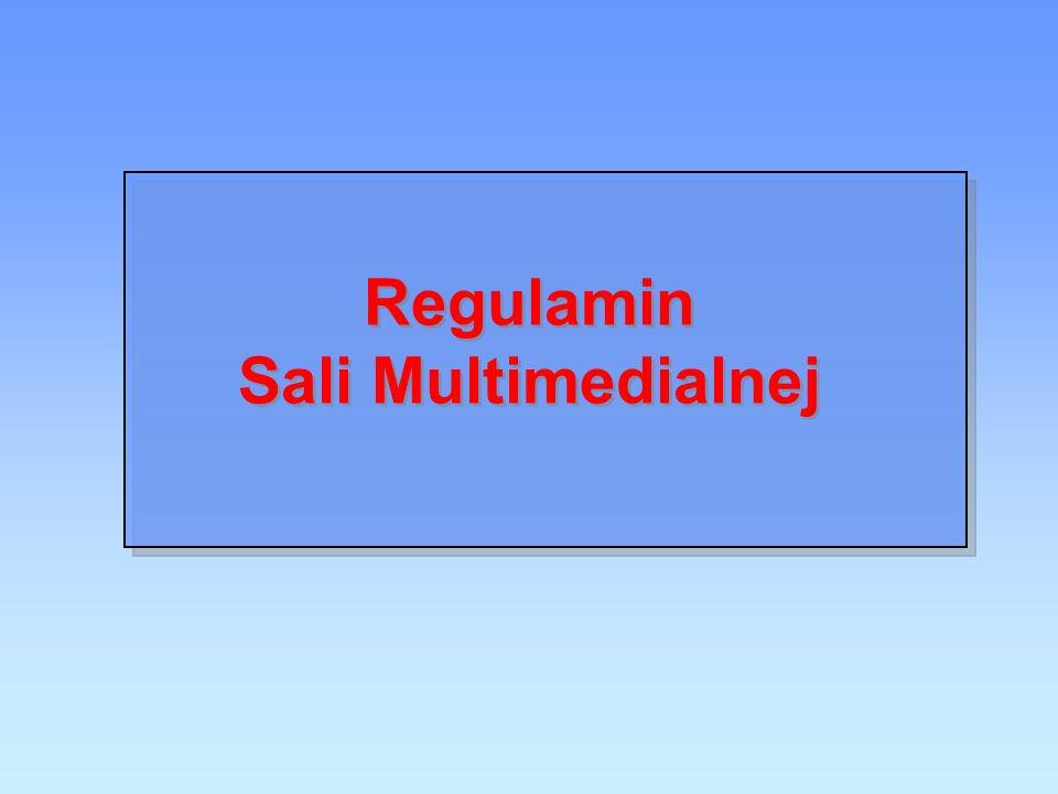 Regulamin Sali Multimedialnej
