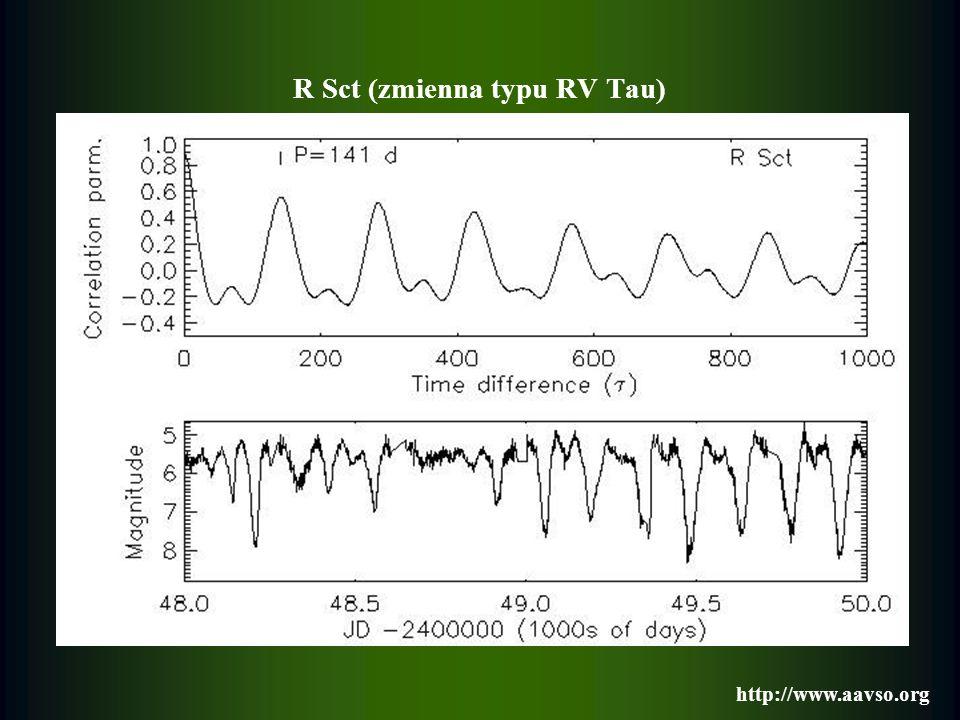 R Sct (zmienna typu RV Tau) http://www.aavso.org