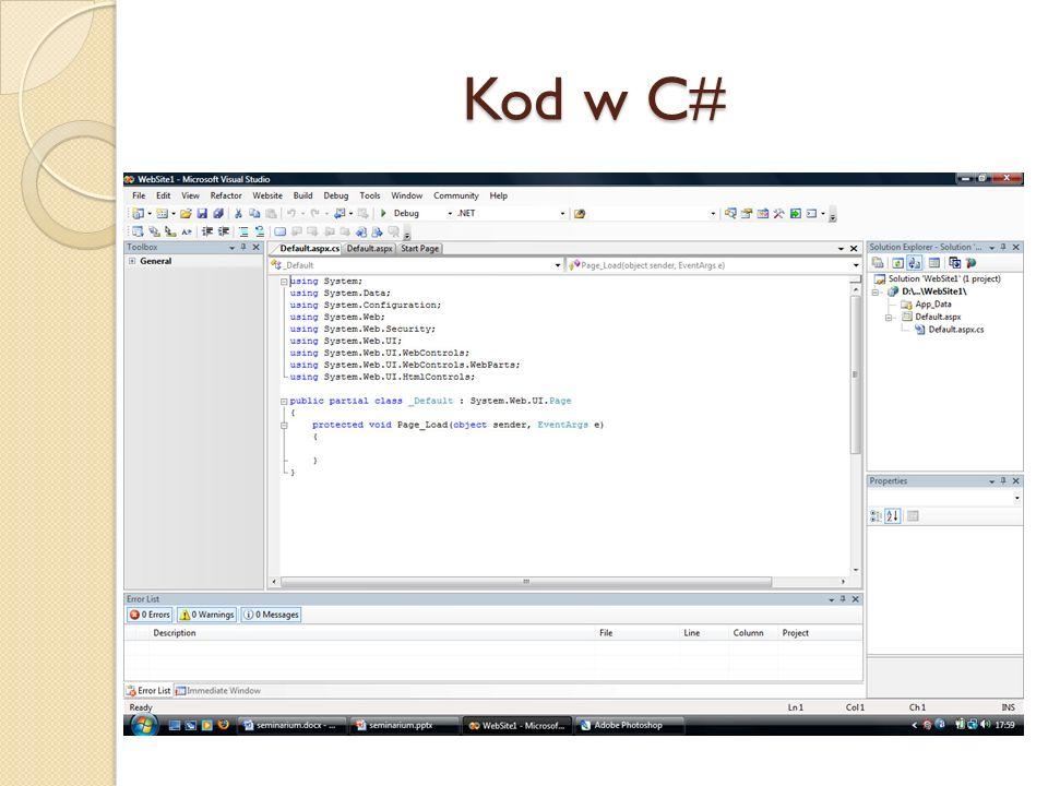Kod w C#