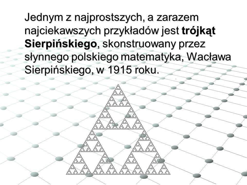 Jednym z najprostszych, a zarazem najciekawszych przykładów jest trójkąt Sierpińskiego, skonstruowany przez słynnego polskiego matematyka, Wacława Sie