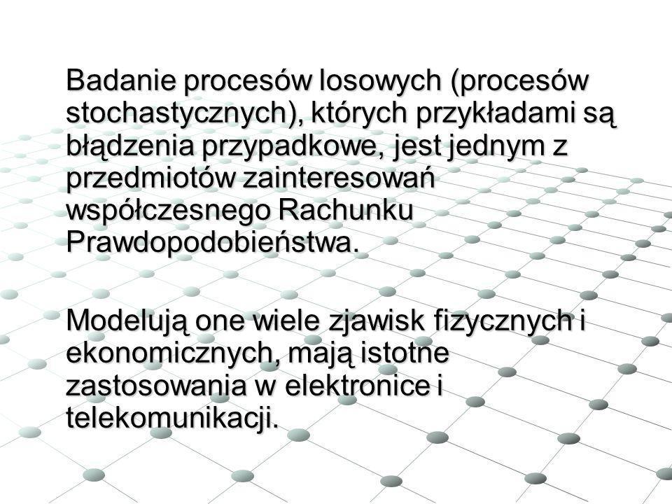 Badanie procesów losowych (procesów stochastycznych), których przykładami są błądzenia przypadkowe, jest jednym z przedmiotów zainteresowań współczesn