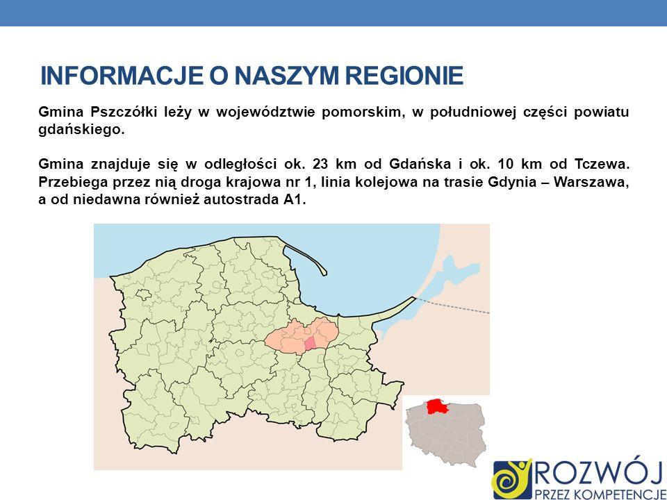 Gmina Pszczółki leży w województwie pomorskim, w południowej części powiatu gdańskiego. Gmina znajduje się w odległości ok. 23 km od Gdańska i ok. 10