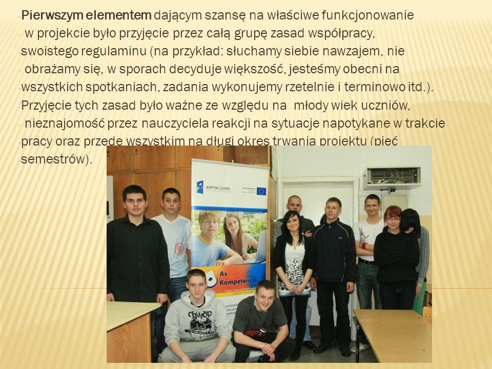 - Dobór tematu projektowego odbywał się w drodze dyskusji nad - proponowanymi tematami, ich analizą merytoryczną, sprawdzenia - możliwości wykonania eksperymentów.