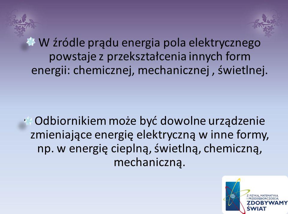 Najprostszy obwód elektryczny składa się z dwóch elementów: źródła prądu i odbiornika Są one połączone przewodami.