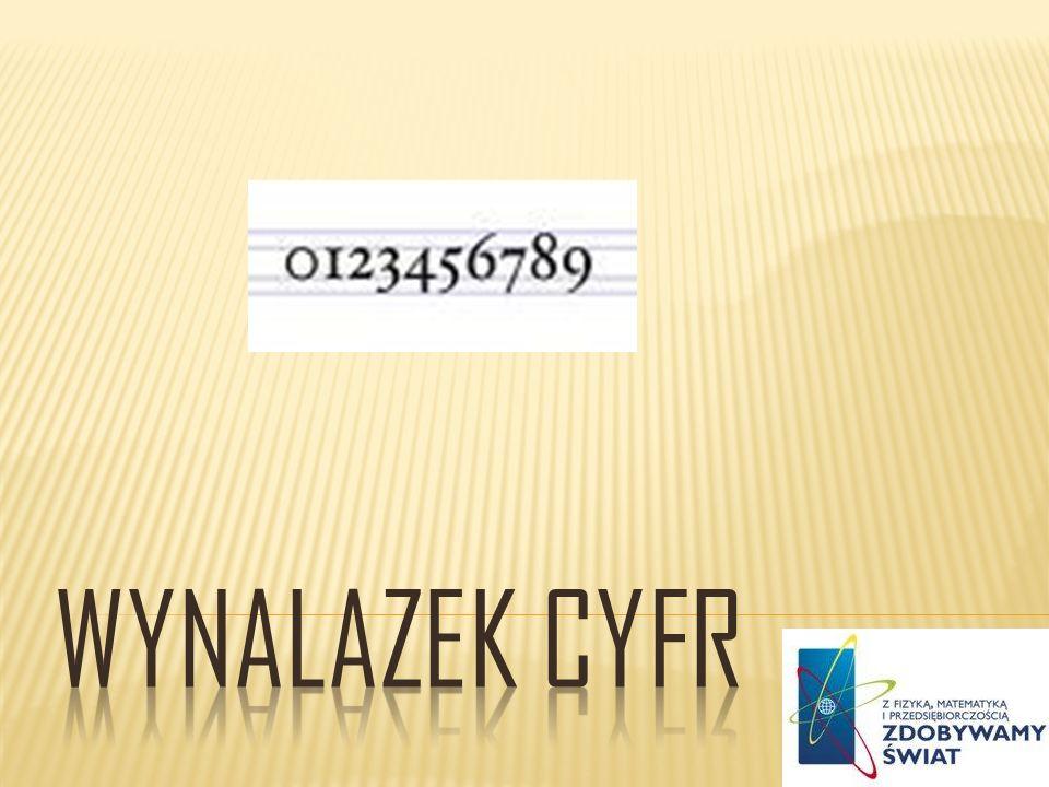 Cyfra to umowny znak pisarski służący do zapisywania liczb.