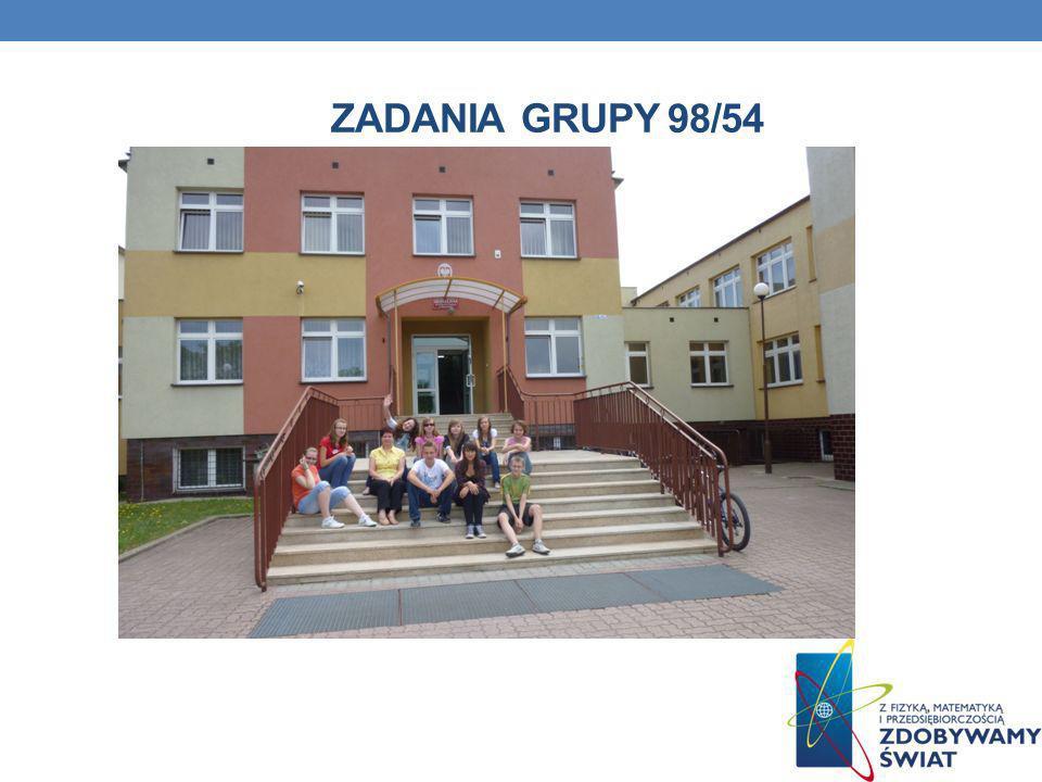 ZADANIA GRUPY 98/54