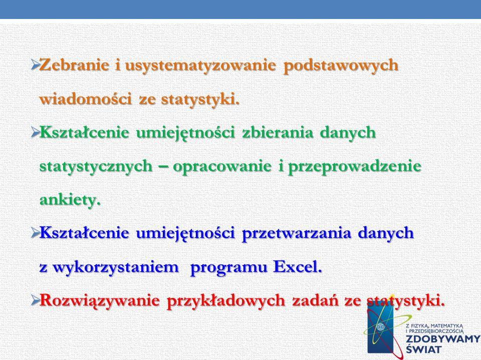 Cele projektu Cele projektu