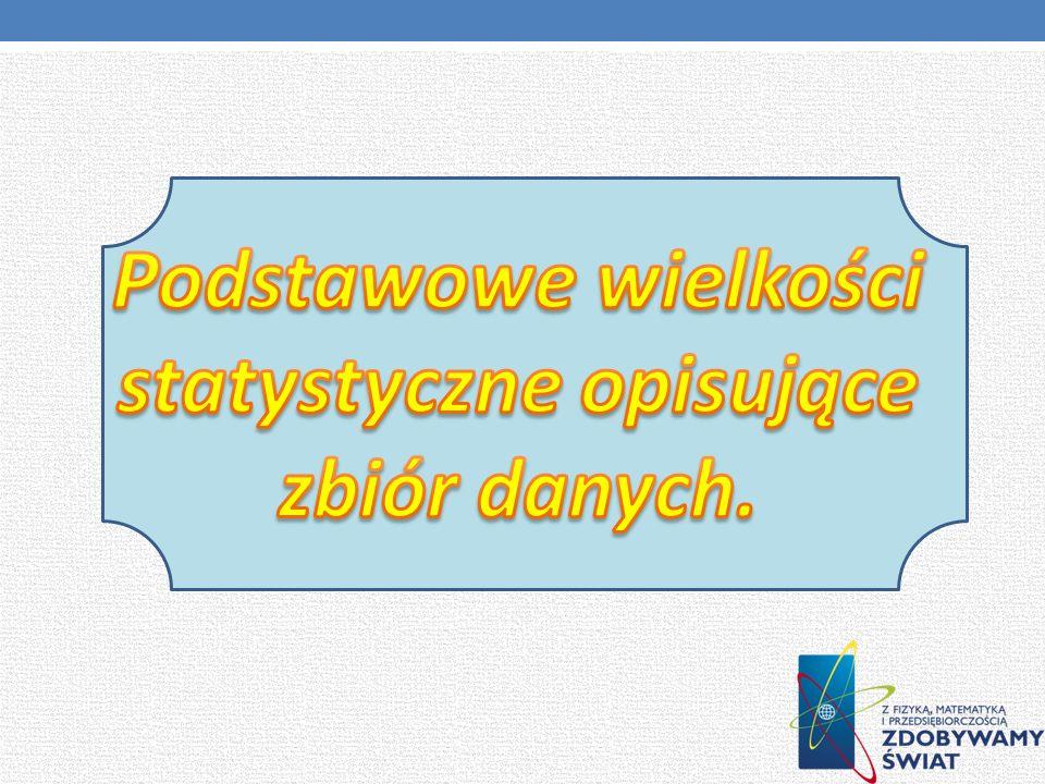 http://pl.wikipedia.org/wiki/Statystyka http://www.statystyka.webatu.com / http://www.xvlo.gda.pl/Statystyka.pdf http://portalwiedzy.onet.pl/6135,,,,srednia_arytmetyczna, http://pl.wikipedia.org/wiki/Dominanta_%28statystyka%29