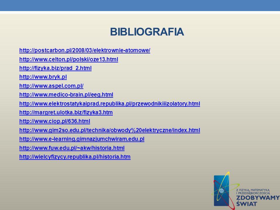 BIBLIOGRAFIA W naszej pracy w III semestrze korzystaliśmy z następujących źródeł : 1. Podręcznik do klasy I gimnazjum Spotkania z fizyką wyd. Nowa Era