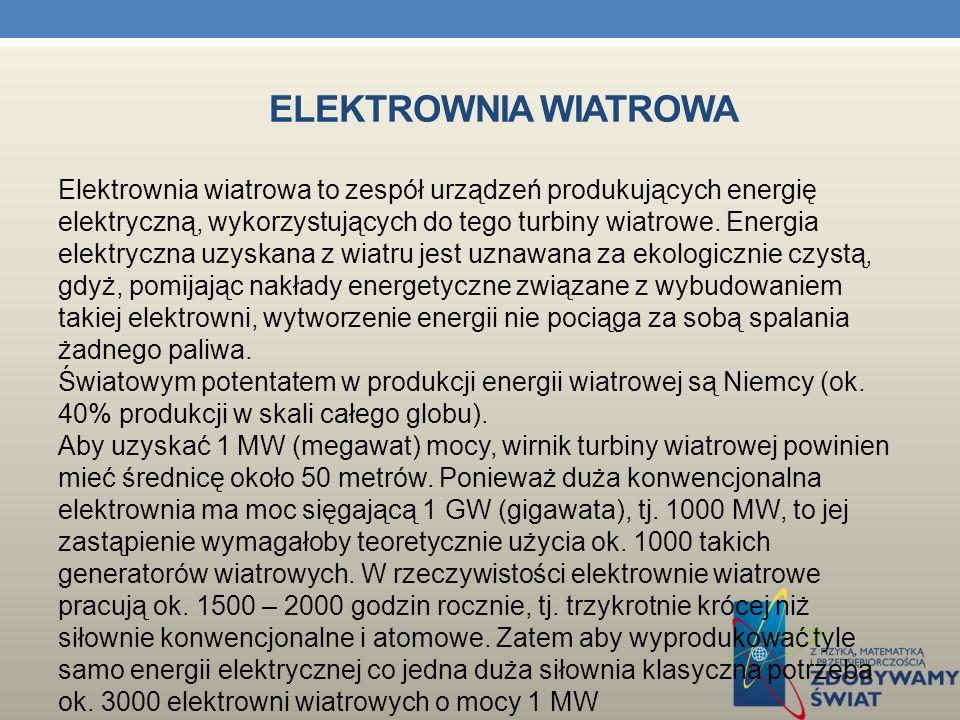 ELEKTROWNIA WĘGLOWA Elektrownia Konin - Pątnów Elektrownia Bełchatów