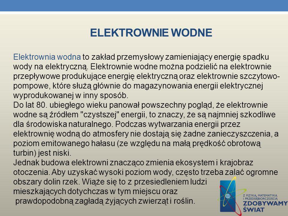 ELEKTROWNIA WIATROWA Eletrownia wiatrowa w Pucku Middelgrugen – elektrownia wiatrowa na morzu