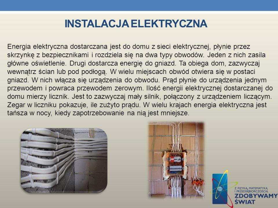 Energia elektryczna ma w domu wiele zastosowań - zasila lampy, telewizor, kuchenki, magnetowid i wiele innych urządzeń. Elektryczność trafia w domach