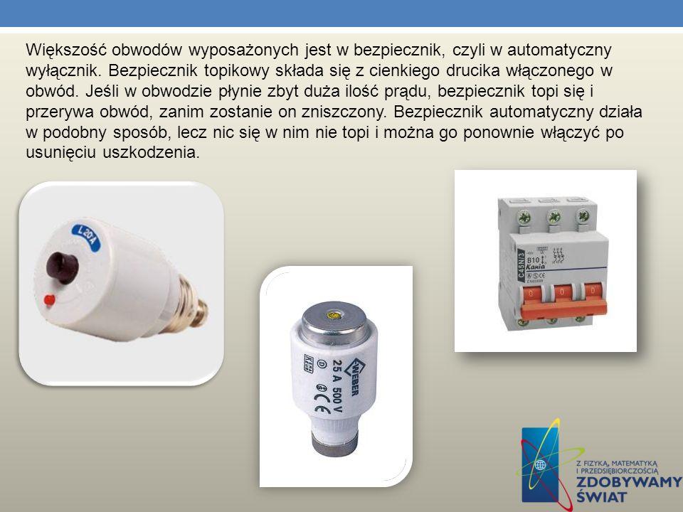 Bezpieczniki elektryczne są to elementy chroniące obwody elektryczne, urządzenia w nich występujące, lub osoby obsługujące przed skutkami nieprawidłow