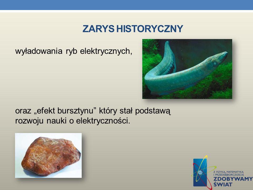 ZARYS HISTORYCZNY Najstarsze znane zjawiska, które dziś rozpoznajemy jako elektryczne, to wyładowania w atmosferze, uznawane przez starożytnych za rod