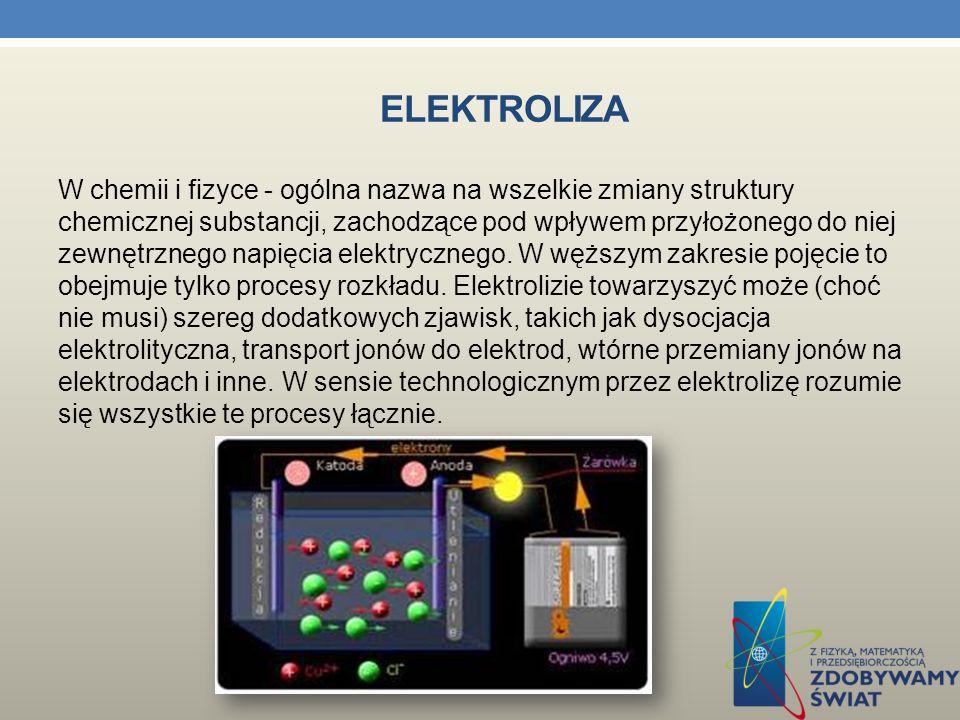 ELEKTROCHEMIA Czy prąd może płynąć przez dowolną ciecz? Nie prąd nie może przepływać przez dowolną ciecz.Przepływa tylko przez elektrolity. Elektroliz