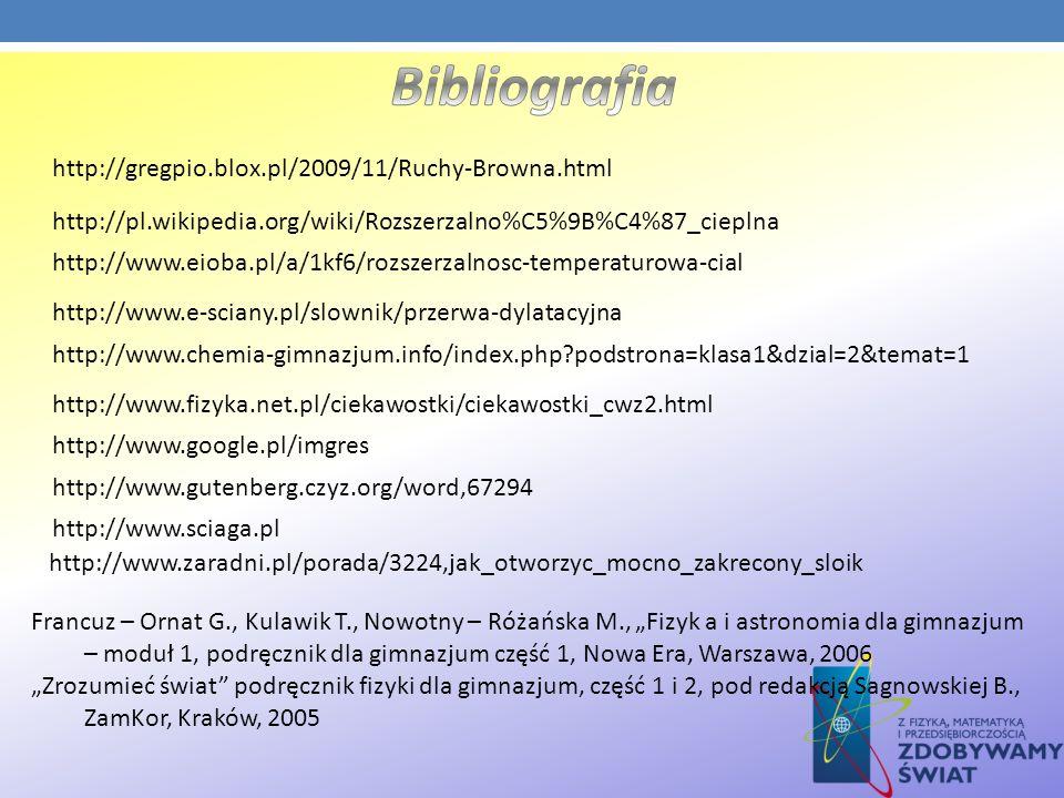 http://www.e-sciany.pl/slownik/przerwa-dylatacyjna http://www.eioba.pl/a/1kf6/rozszerzalnosc-temperaturowa-cial http://pl.wikipedia.org/wiki/Rozszerza