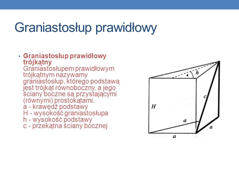 Graniastosłup prawidłowy Sześcian Sześcianem nazywamy prostopadłościan, który ma wszystkie krawędzie równej długości.