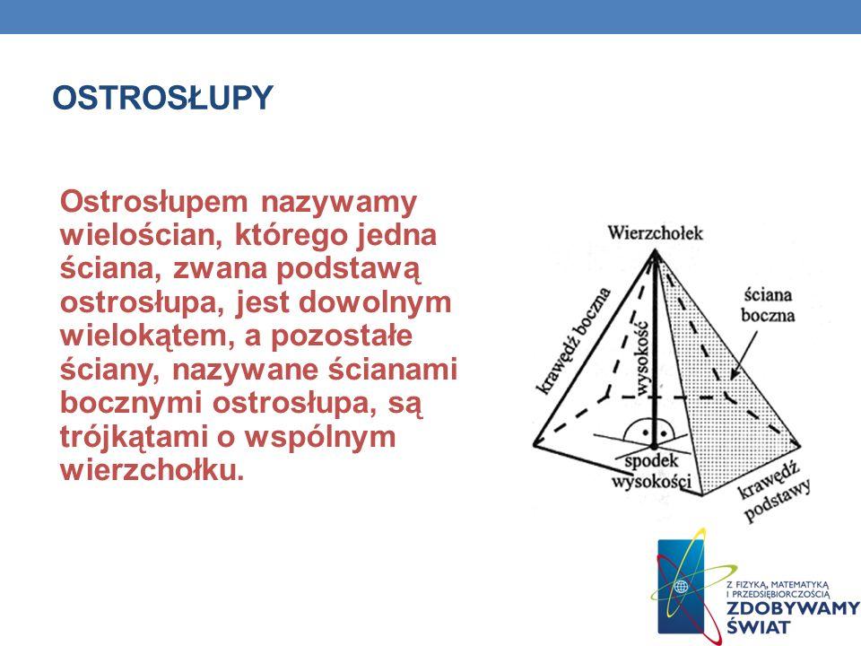 GRANIASTOSŁUP PRAWIDŁOWY Graniastosłup prawidłowy czworokątny Graniastosłupem prawidłowym czworokątnym nazywamy graniastosłup, którego podstawą jest kwadrat, a jego ściany boczne są przystającymi (równymi) prostokątami.