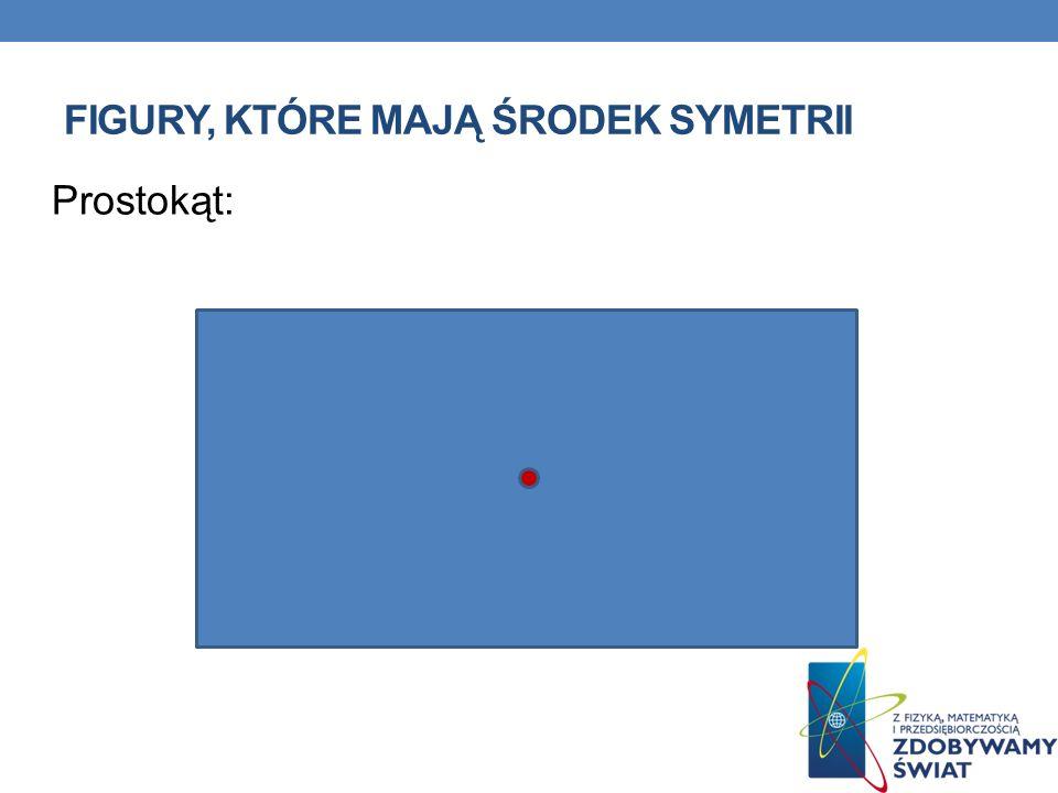 Środek symetrii figury jest punktem, względem którego ta figura jest do siebie środkowosymetryczna.