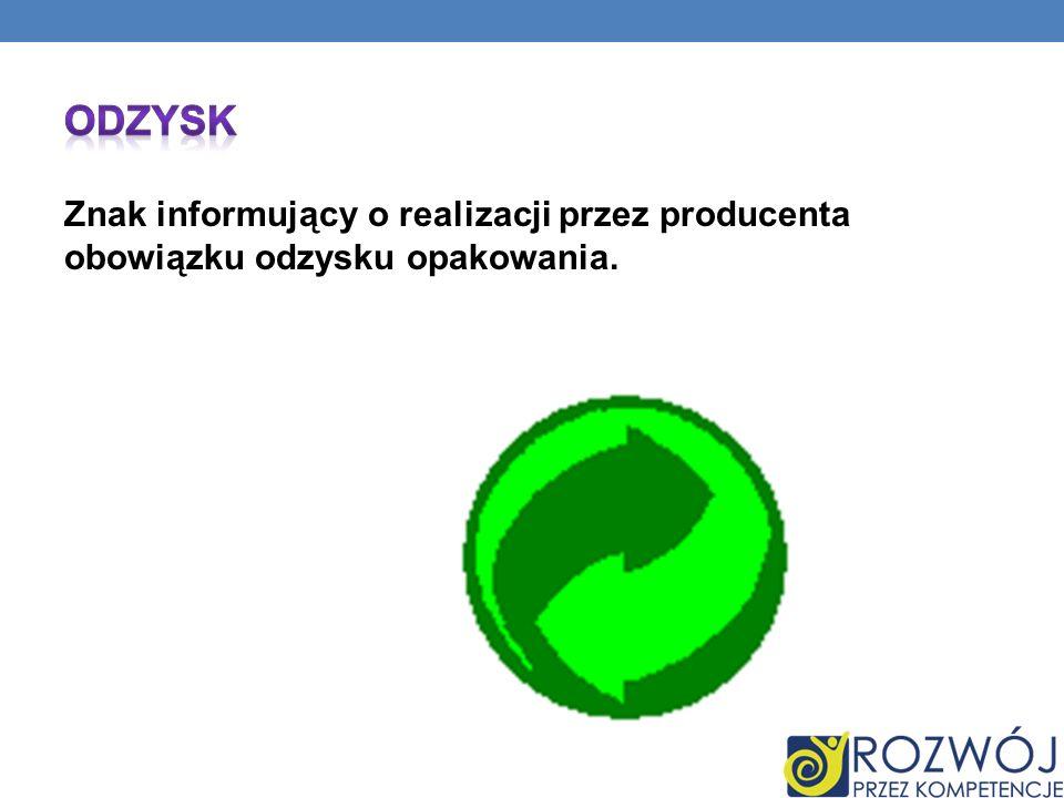 Znak informujący o realizacji przez producenta obowiązku odzysku opakowania.