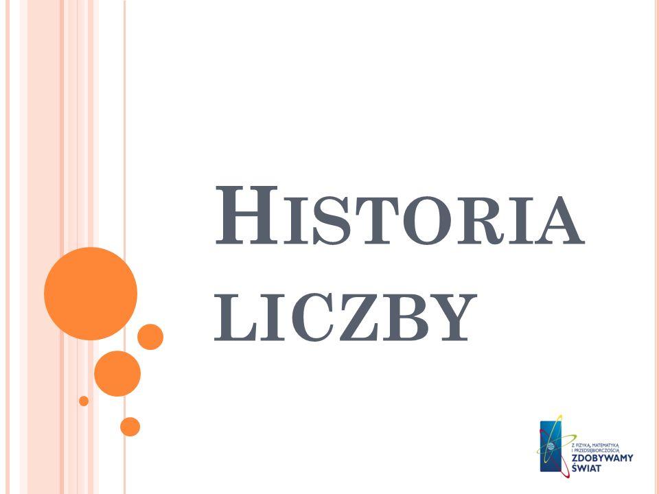 H ISTORIA LICZBY