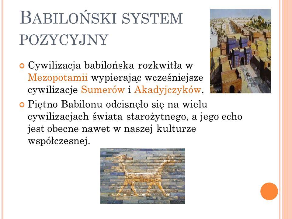 Cywilizacja babilońska rozkwitła w Mezopotamii wypierając wcześniejsze cywilizacje Sumerów i Akadyjczyków. Piętno Babilonu odcisnęło się na wielu cywi