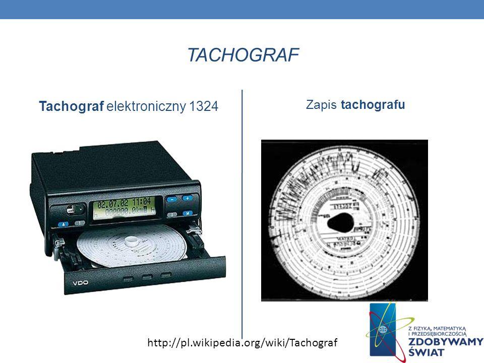 TACHOGRAF Tachograf elektroniczny 1324 Zapis tachografu http://pl.wikipedia.org/wiki/Tachograf