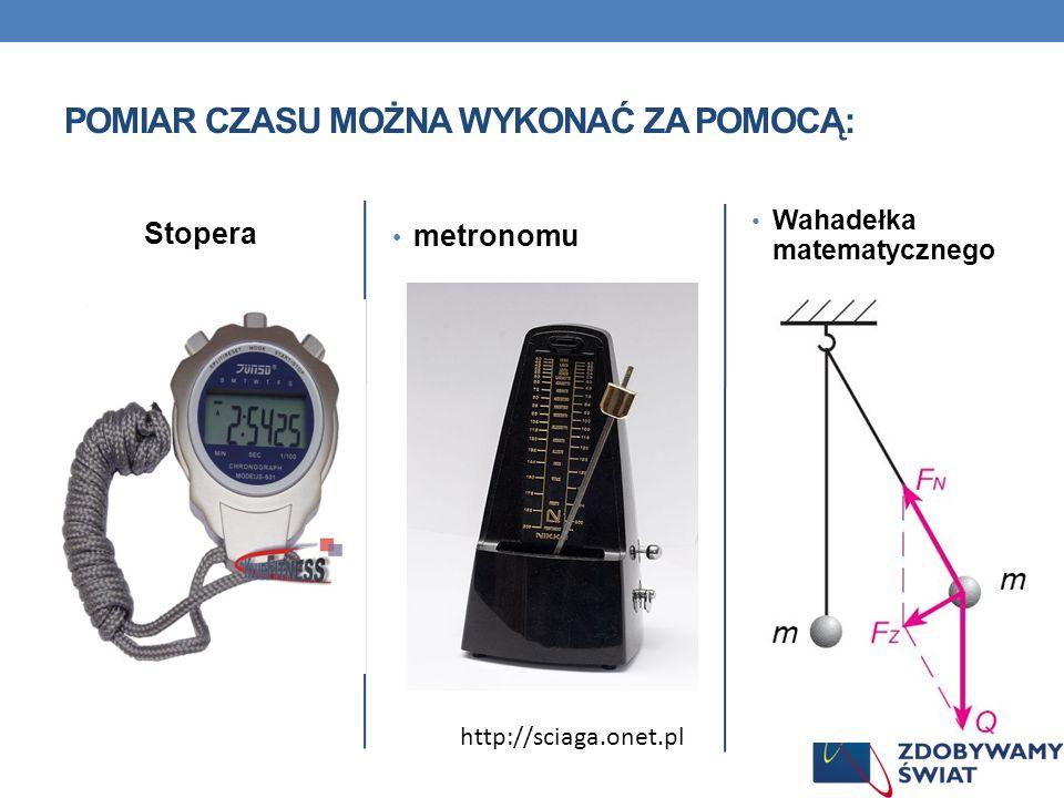 Stopera metronomu Wahadełka matematycznego POMIAR CZASU MOŻNA WYKONAĆ ZA POMOCĄ: http://sciaga.onet.pl