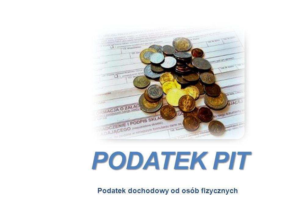 PODATEK PIT Podatek dochodowy od osób fizycznych