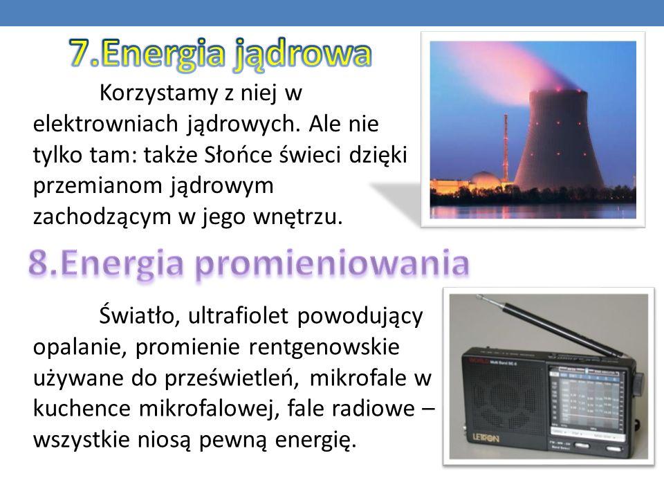 Korzystamy z niej w elektrowniach jądrowych. Ale nie tylko tam: także Słońce świeci dzięki przemianom jądrowym zachodzącym w jego wnętrzu. Światło, ul