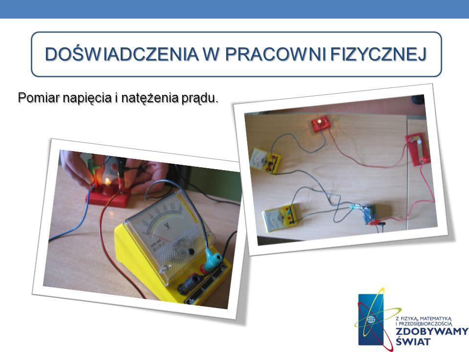 DOŚWIADCZENIA W PRACOWNI FIZYCZNEJ Pomiar napięcia i natężenia prądu.