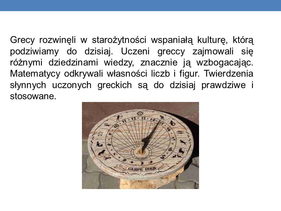 Grecy rozwinęli w starożytności wspaniałą kulturę, którą podziwiamy do dzisiaj.